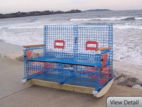 Cape Fishermen\'s Supply   Discount Marine Supplies   Chatham, MA - Lobster Trap Furniture